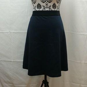 Ellen Tracy navy blue midi skirt
